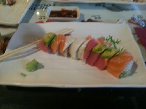 Rainbow Roll at Sushi House in Bentonville