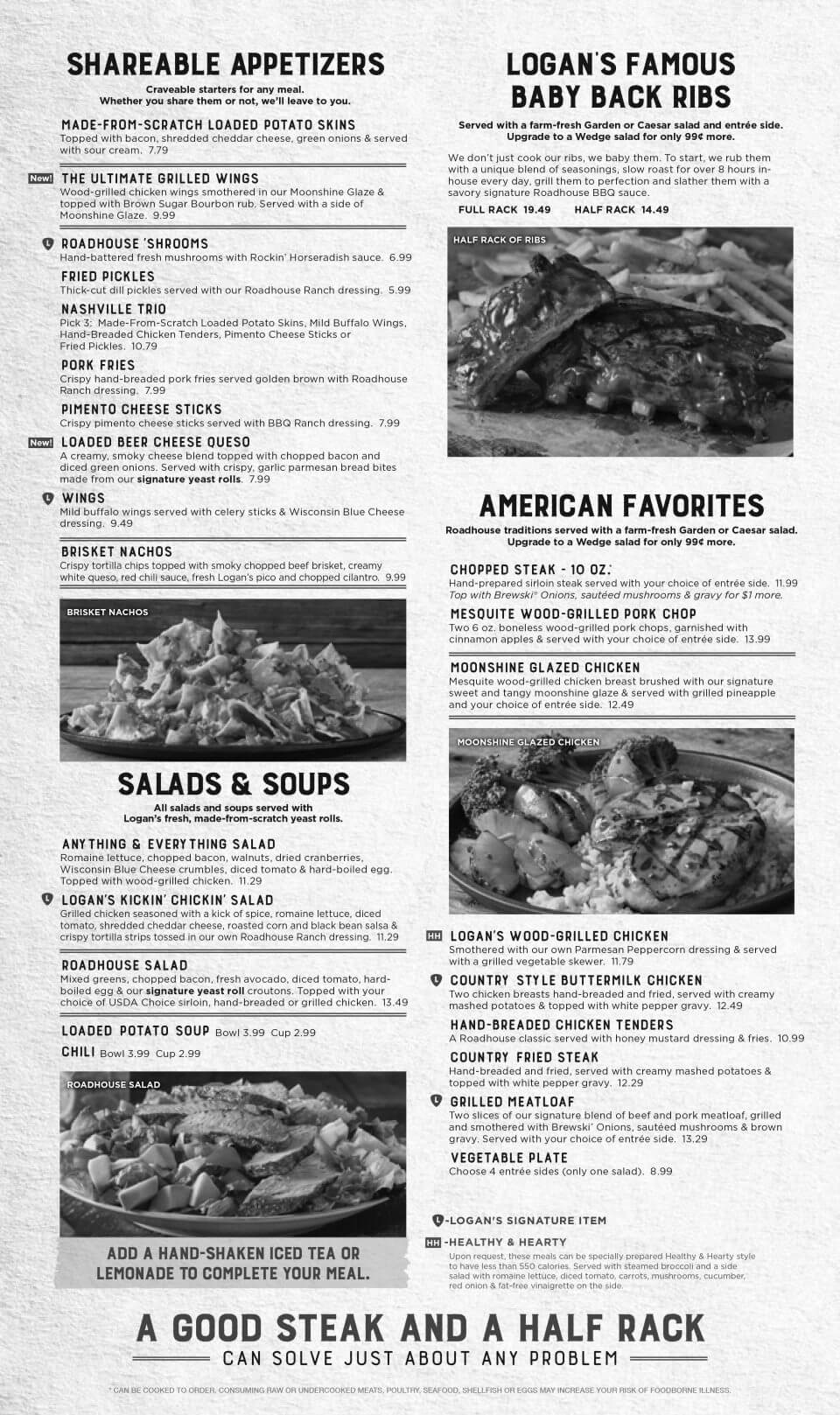 Logan's Roadhouse Rogers Menu 2