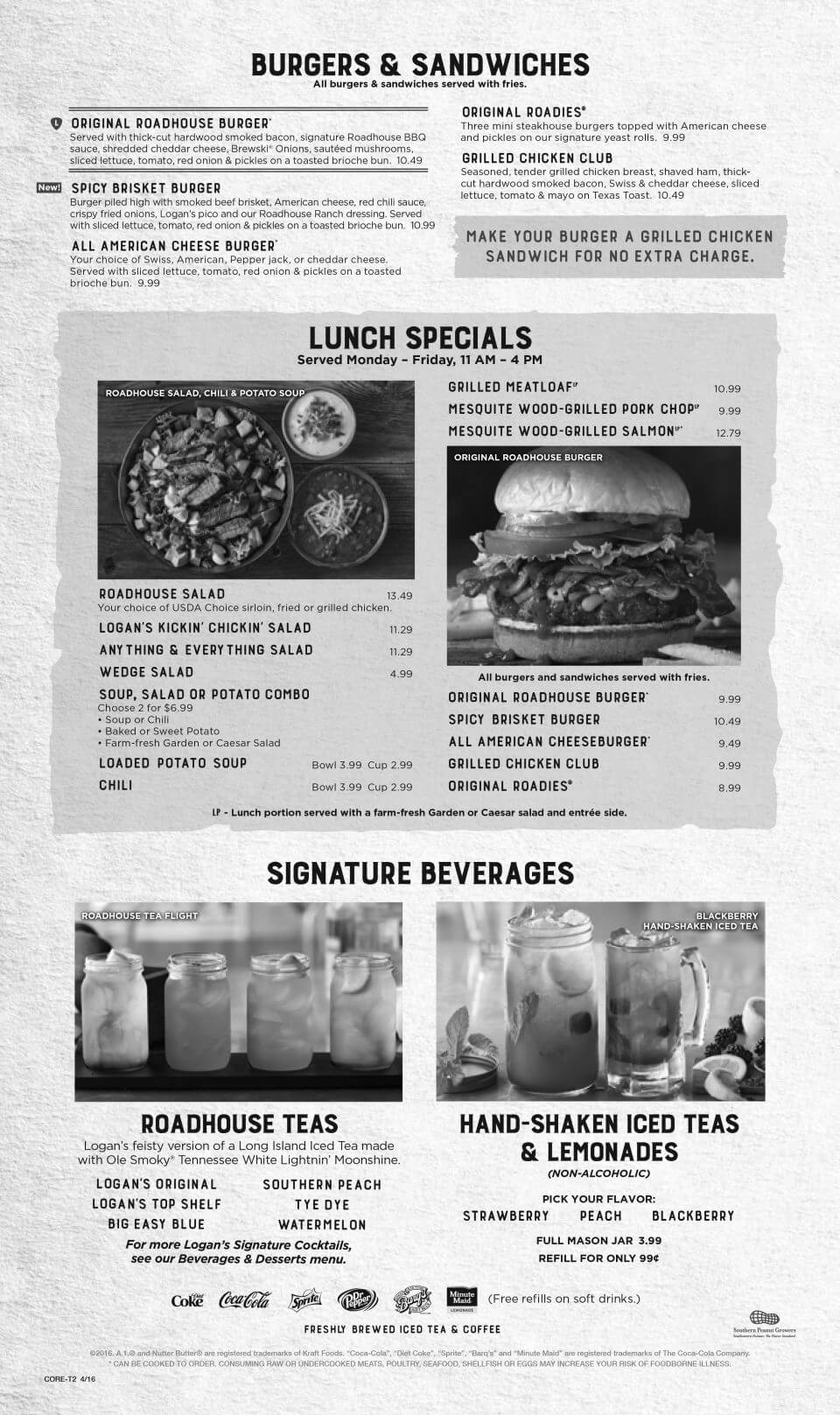 Logan's Roadhouse Rogers Menu 4