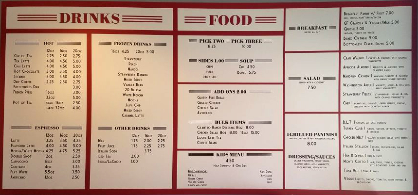 The Cafe On Broadway Siloam Springs Menu