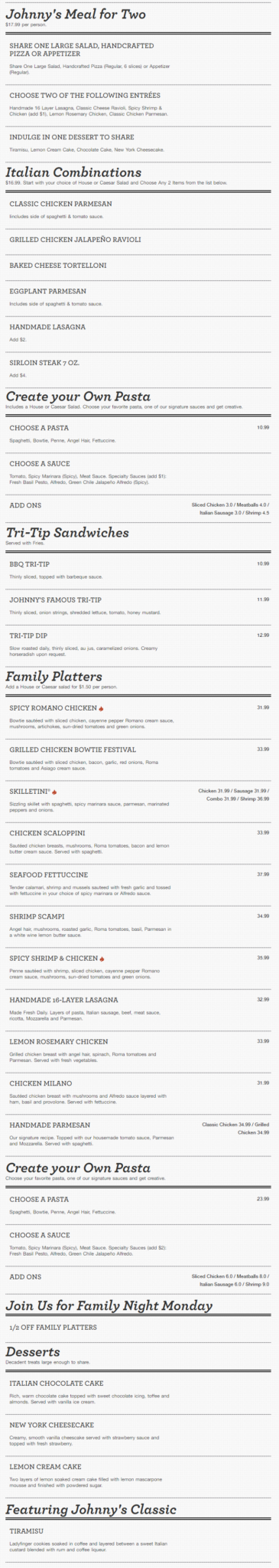 Johnny Carino's Rogers Menu 3