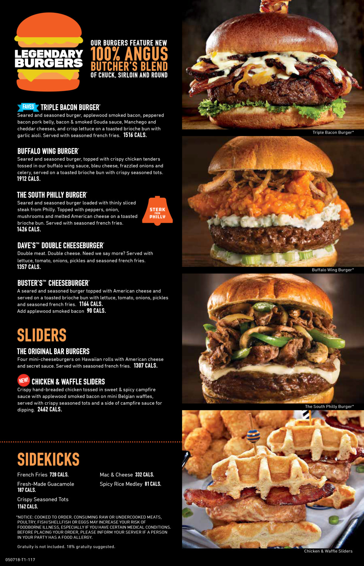 Dave & Buster's Menu Rogers 4