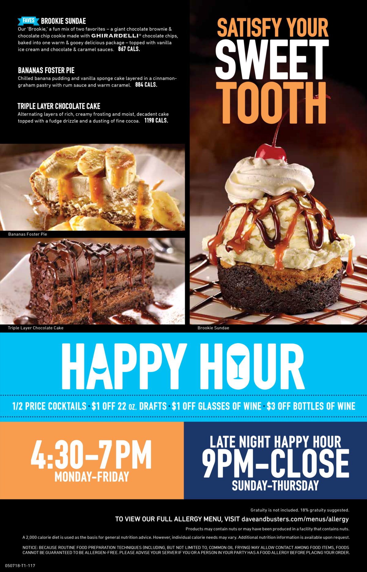 Dave & Buster's Menu Rogers 6