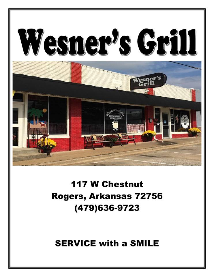 Wesners Grill Rogers Menu 1