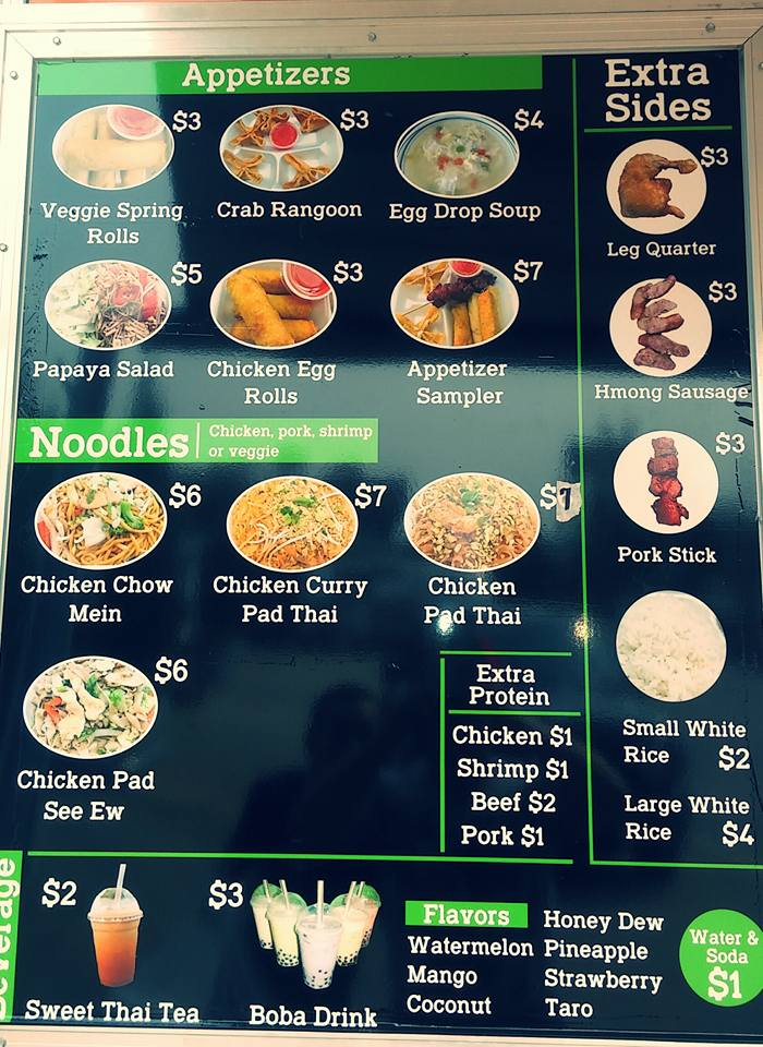 Chao's Asian & American Foods Menu