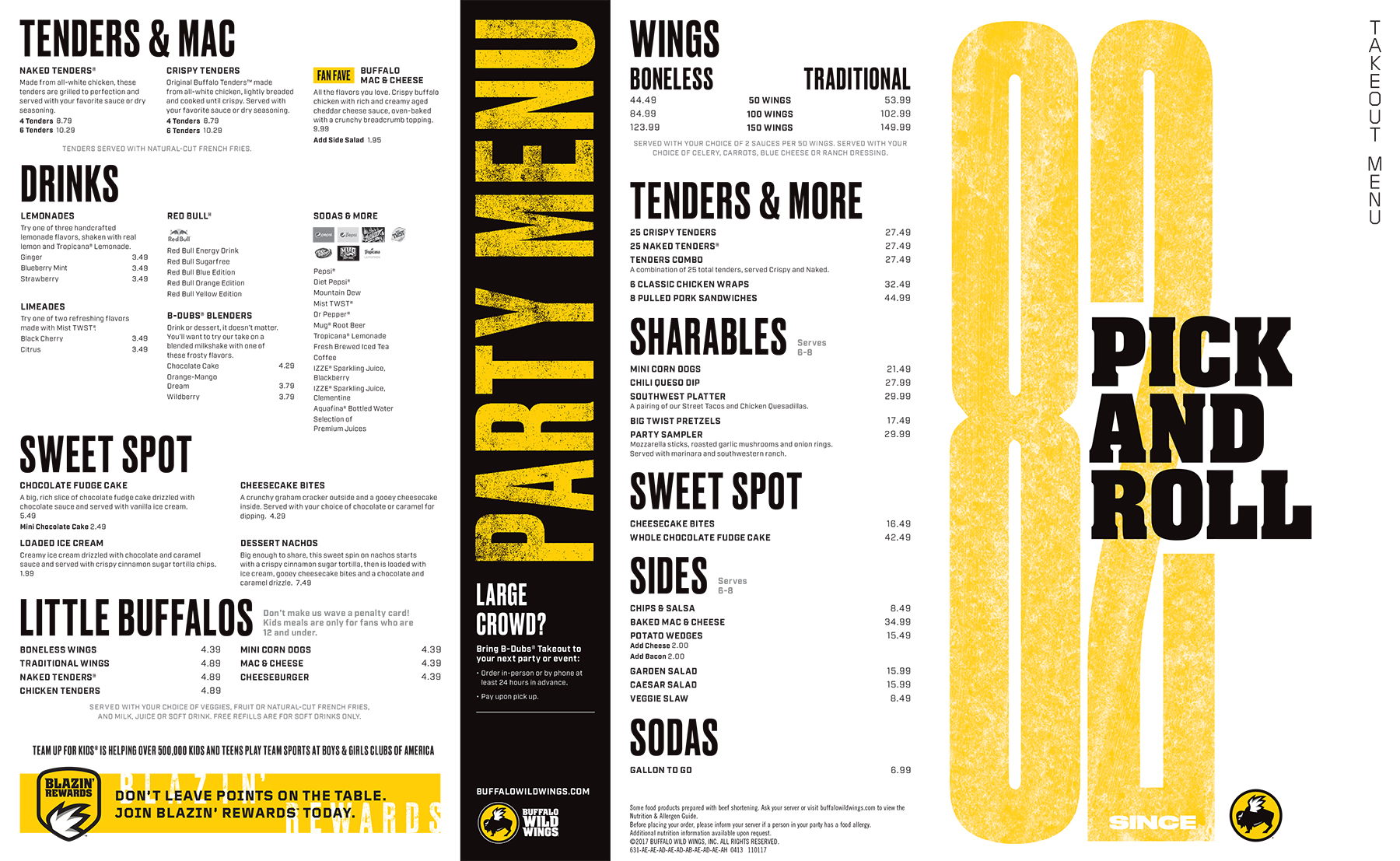 Buffalo Wild Wings Menu With Prices