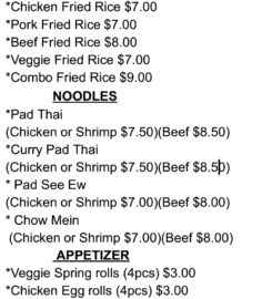 Chao's Asian And American Foods